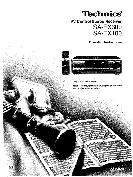 Technics AV Control Stereo Receiver Operating Instructions