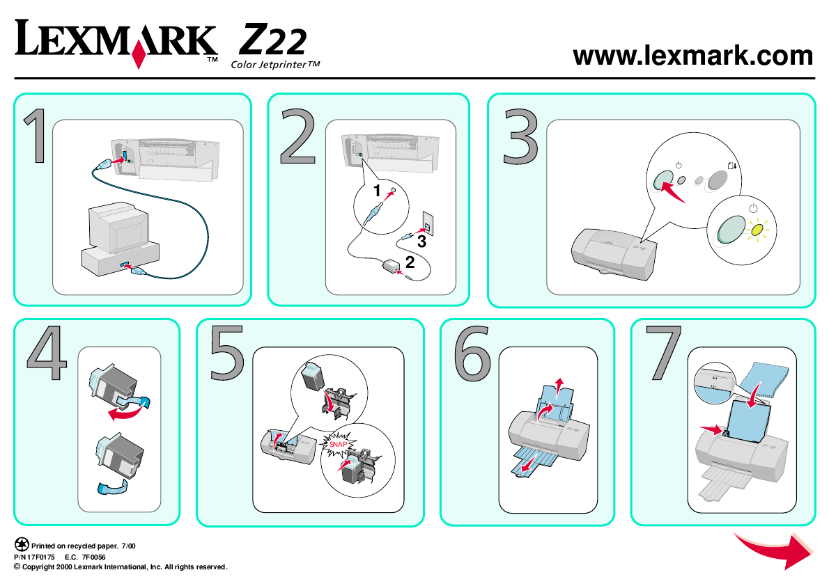 Lexmark 1020 Color Jetprinter