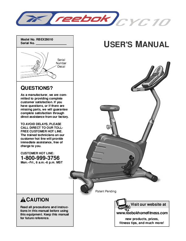 Search Reebok Fitness 307080 Htmlctsupport User Manuals