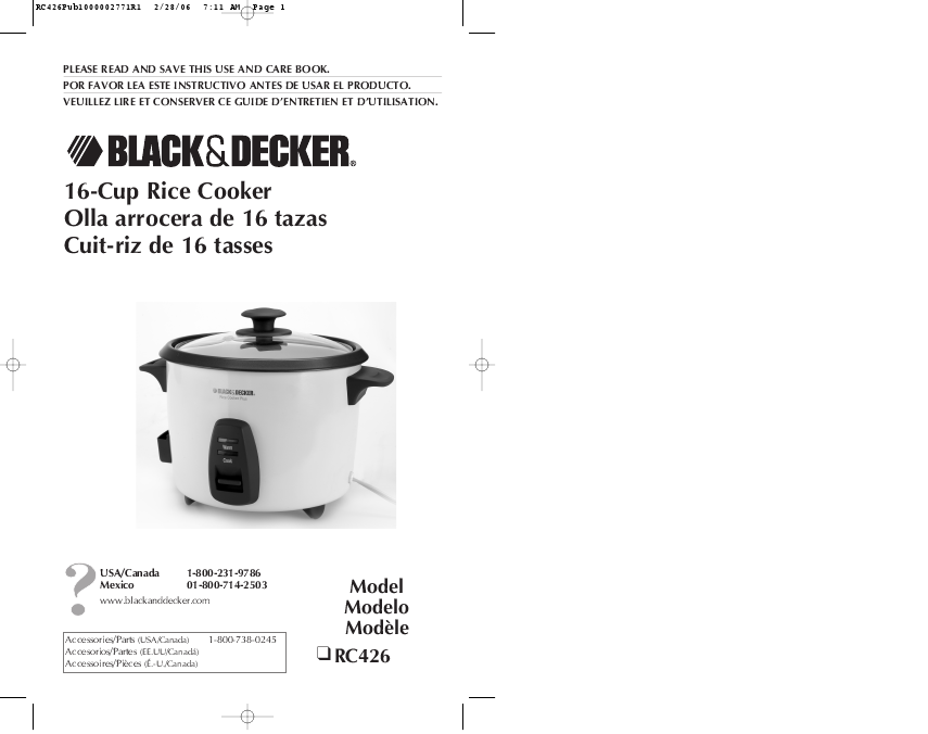 Black And Decker Rice Cooker. for Black amp; Decker RC426 Rice