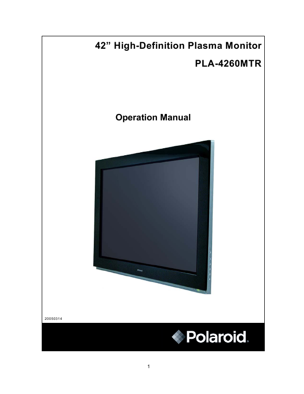 polaroid computer monitor pla 4260mtr user 39 s guide. Black Bedroom Furniture Sets. Home Design Ideas
