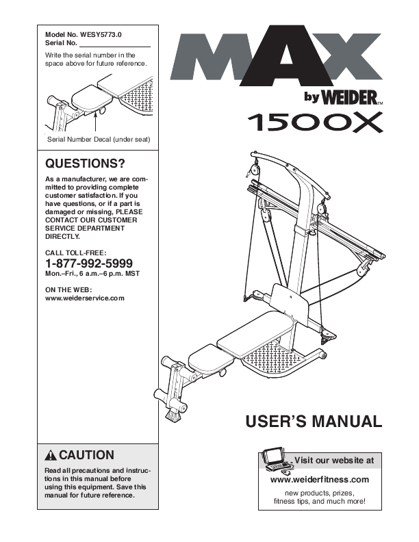Search Weider Weider Home Gym User Manuals Manualsonline