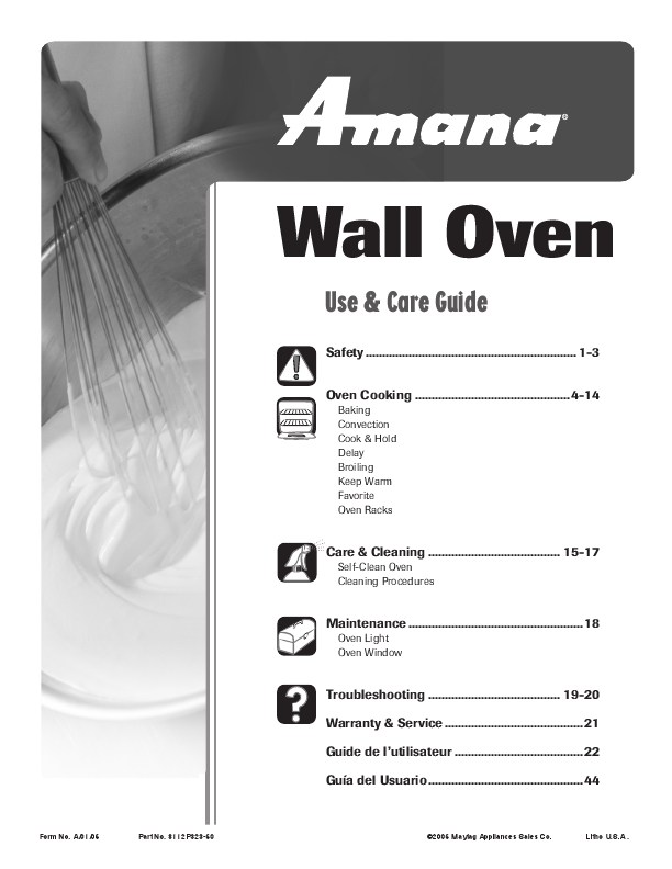 amana use and care guide wall oven manualsonline com amana user manual air conditioner amana user manual