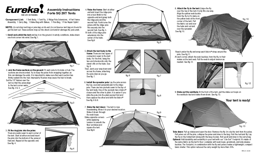 Eureka! Tents Forte SQ 2XT  sc 1 st  Search Manual/ User Manuals | ManualsOnline.com & Search Manual/ User Manuals | ManualsOnline.com