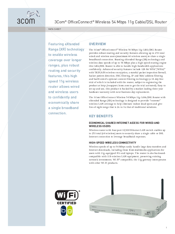 3com officeconnect wireless 11g
