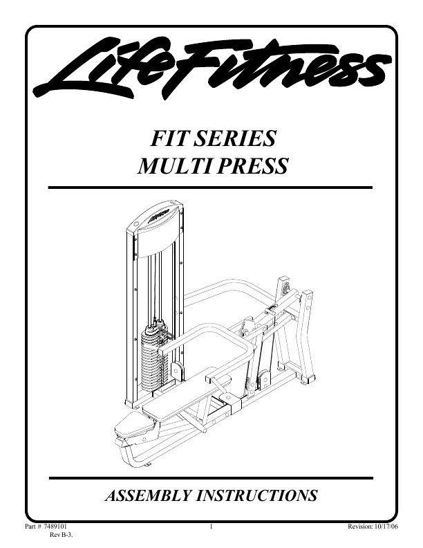 life fitness fit 3 multi gym manual