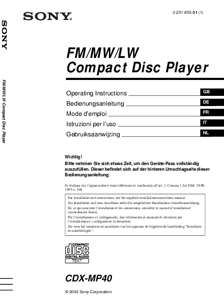 sony cdx f5700 wiring diagram schematics and wiring diagrams sony cdx l510x fm am pact disc player manual