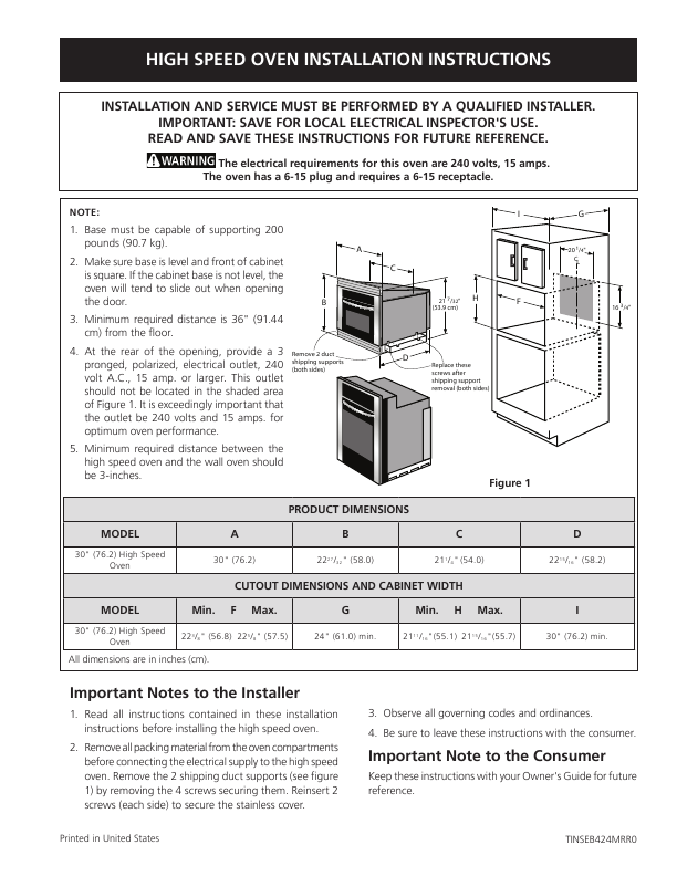 electrolux range 30 user s guide manualsonline com electrolux wall oven installation instructions Electrolux Gas Range