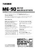 Boss ME-50 Guitar Multiple Effects Owner's Manual