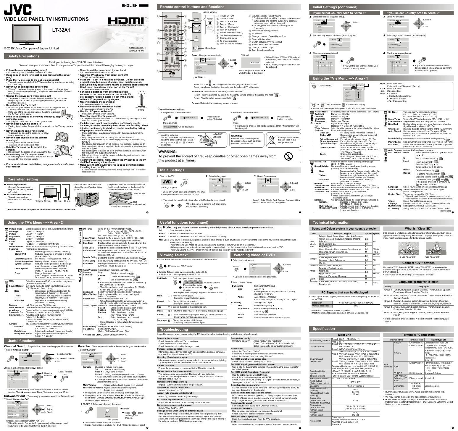 search jvc jvc lcd flat panel tv 4 user manuals manualsonline com rh tv manualsonline com JVC Everio Camcorder User Manual jvc everio instruction manual