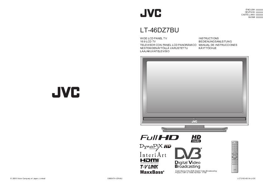 search jvc jvc lcd hdtv user manuals manualsonline com rh tv manualsonline com 1080P JVC TV Manual JVC LCD TV Manual