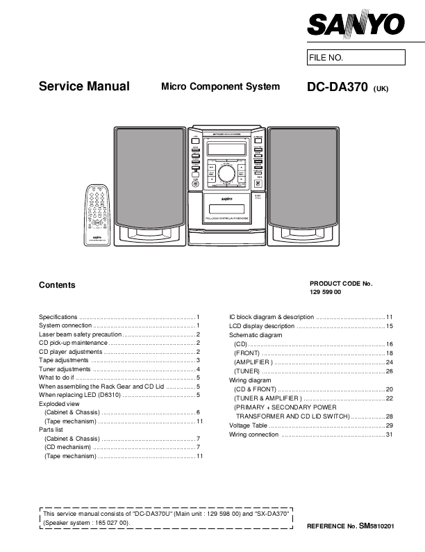 Search sanyo tv user manuals manualsonline sanyo dc da370 asfbconference2016 Choice Image