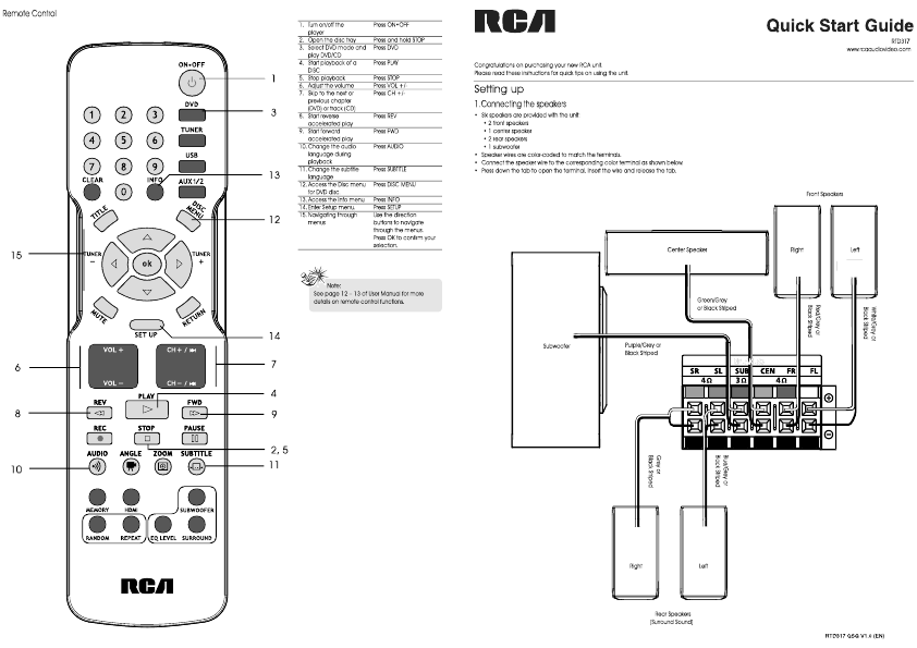rca home theater system manual. Black Bedroom Furniture Sets. Home Design Ideas