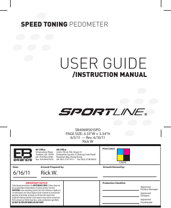 sportline s7 heart rate monitor watch manual