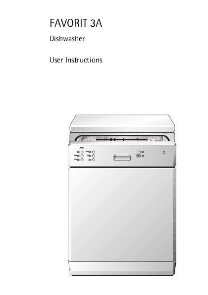 Search undercounter user manuals manualsonline aeg favorit 3a aeg favorit 3a dishwasher sciox Choice Image