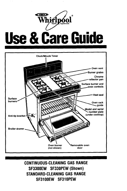 Accubake Whirlpool Oven Manual