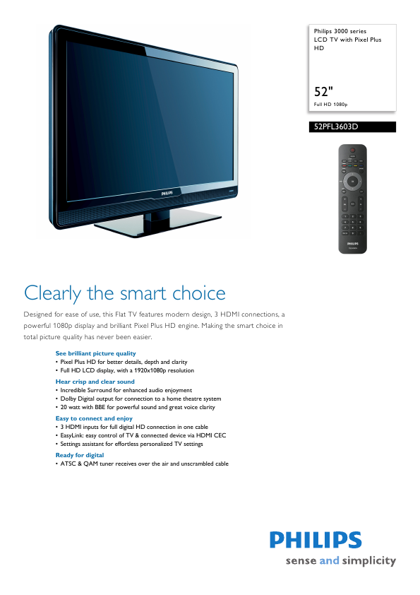 Philips Tv User Manuals Download - ManualsLib