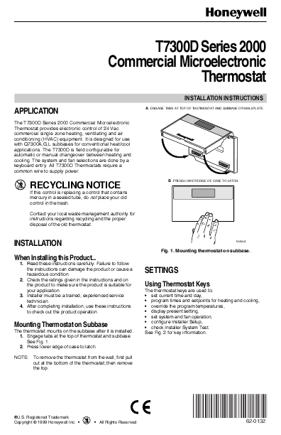 Honeywell Deluxe Programmable Thermostat Troubleshooting