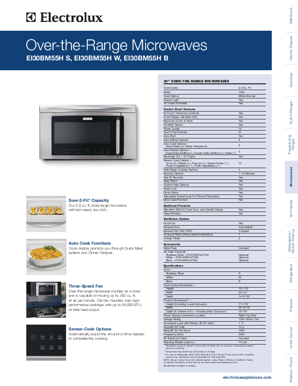 electrolux over the range microwaves specification sheet manualsonline com iPad User Guide iPad Manual
