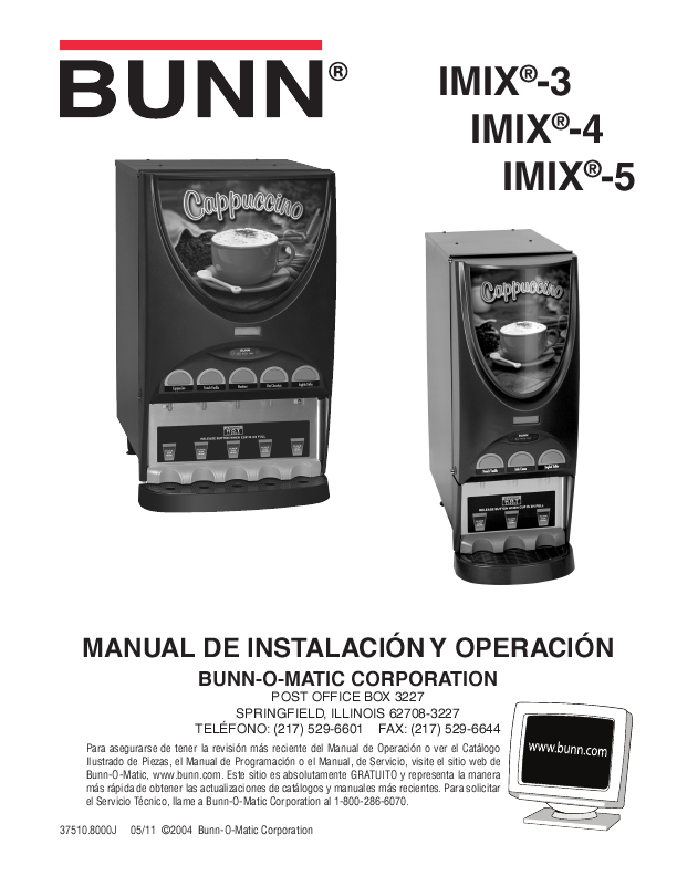 Bunn Coffee Maker User Guide : BUNN Installation & Operating Manual ManualsOnline.com
