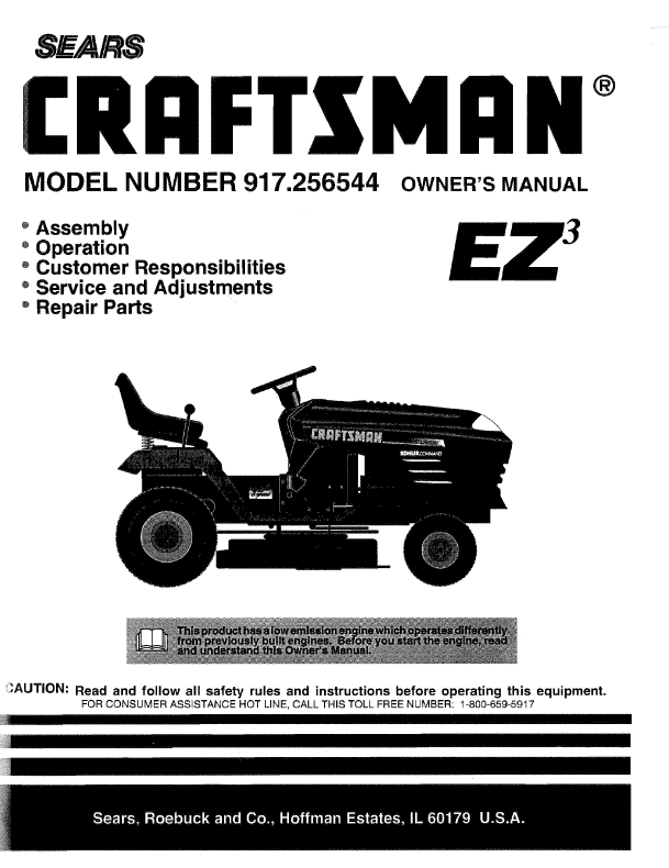 Lawn mowers  tractors - Craftsman LT1000 28701 information from