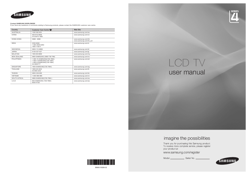 search samsung tv user manuals manualsonline com rh tv manualsonline com Samsung UN55B8500 Samsung LN52A650 Power Cycling