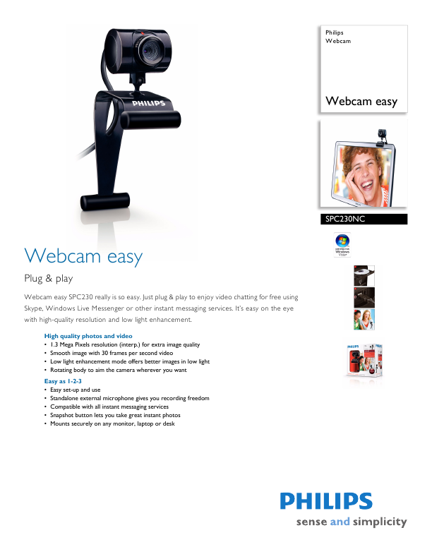 Philips Webcam Brochure Click to Enlarge