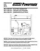 Powermate - Coleman Electric Generator Product Manual