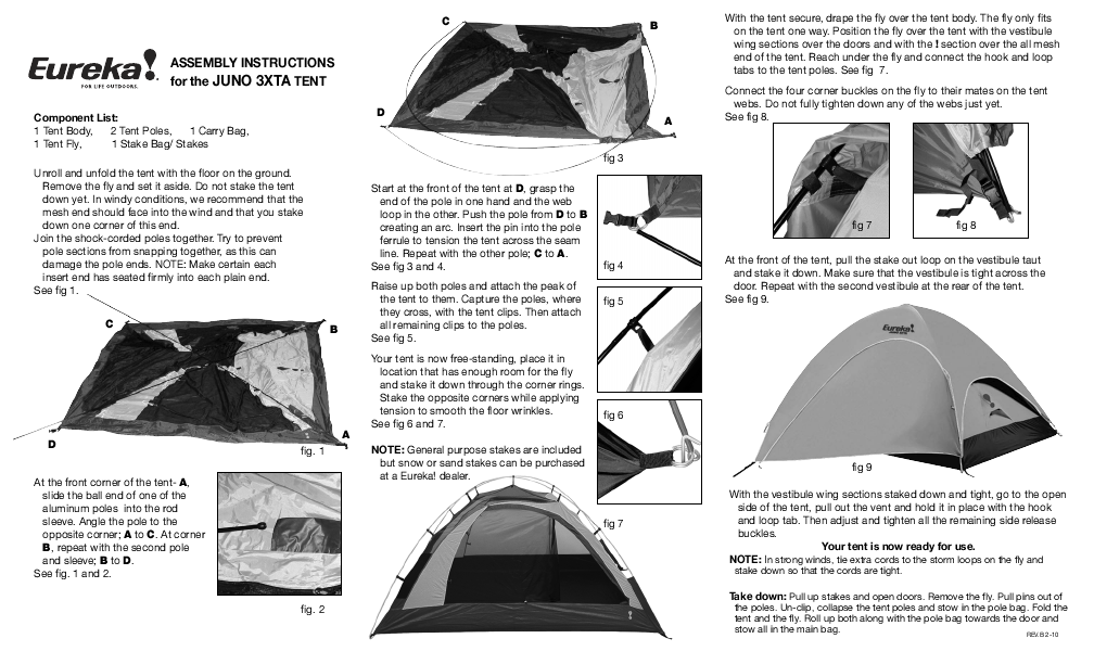 Eureka! Tents JUNO 3XTA  sc 1 st  User Manuals - ManualsOnline.com & Search instruction manual User Manuals | ManualsOnline.com