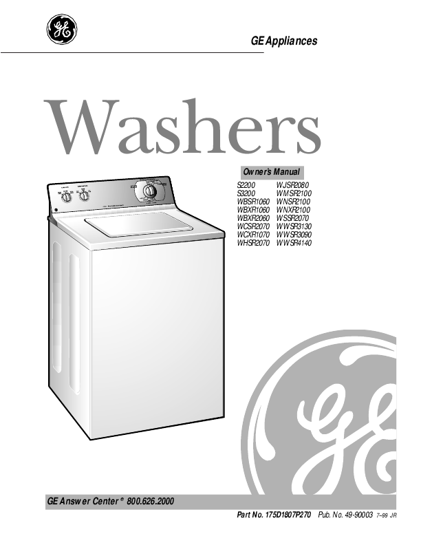 ge washing machine manual