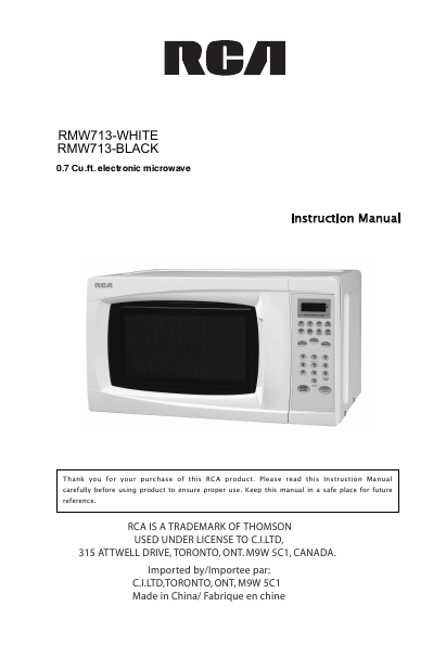 search rca rca builtin microwave oven user manuals. Black Bedroom Furniture Sets. Home Design Ideas