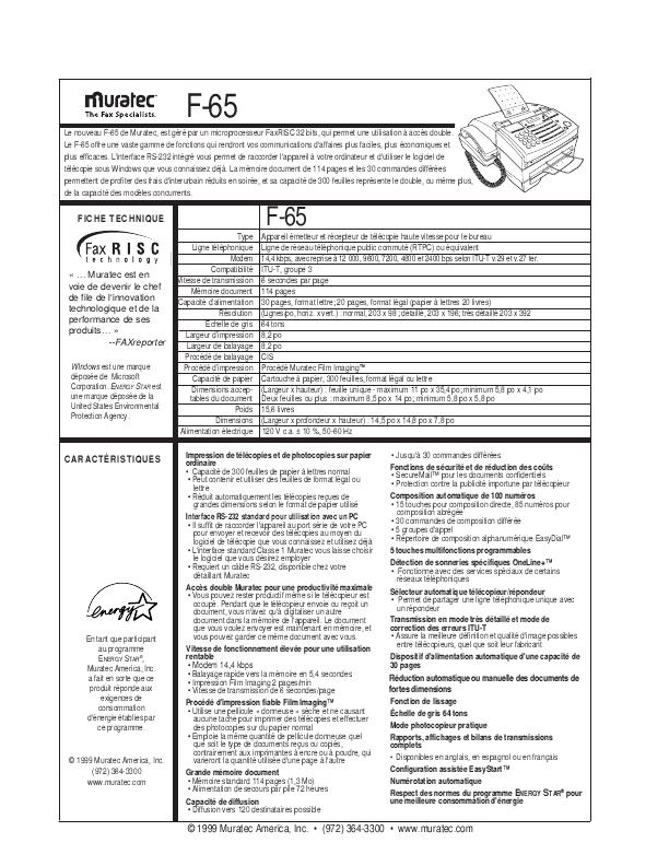 muratec f 315 fax machine