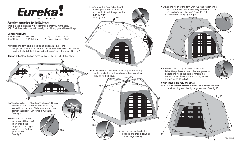 Eureka! Tents Equinox 6  sc 1 st  User Manuals - ManualsOnline.com & Search tent User Manuals | ManualsOnline.com