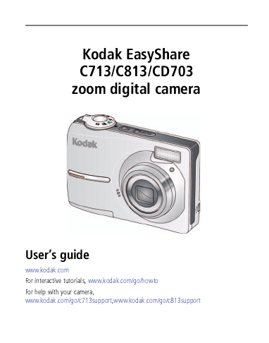 kodak digital camera c713 user s guide manualsonline com Kodak EasyShare All in One Kodak EasyShare Printer