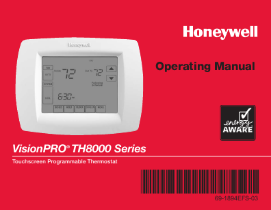 search wireless thermostat user manuals manualsonline com rh manualsonline com honeywell th8000 thermostat troubleshooting honeywell th8000 thermostat instructions