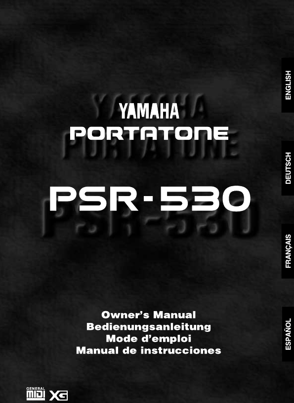 Additional Yamaha PSR-530 Musical Instrument Literature