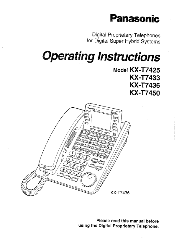 panasonic kx t7433 user guide panasonic kx t7433 user panasonic kx-t7731-b user manual Key Series 44 Panasonic Telephones