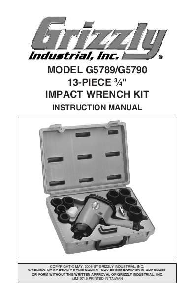 Search cordless user manuals manualsonline grizzly g5789 publicscrutiny Gallery