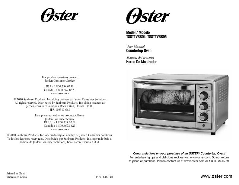 Oster Countertop Oven Manual : Oster Oster Oven Oster Countertop Oven Oven User Manual