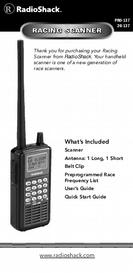 RadioShack Racing Scanner User's Guide