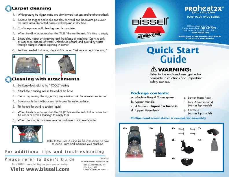 Manual For Bissell Carpet Cleaner Ideas