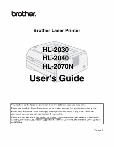 скачать драйвер brother hl-2132 laser printer