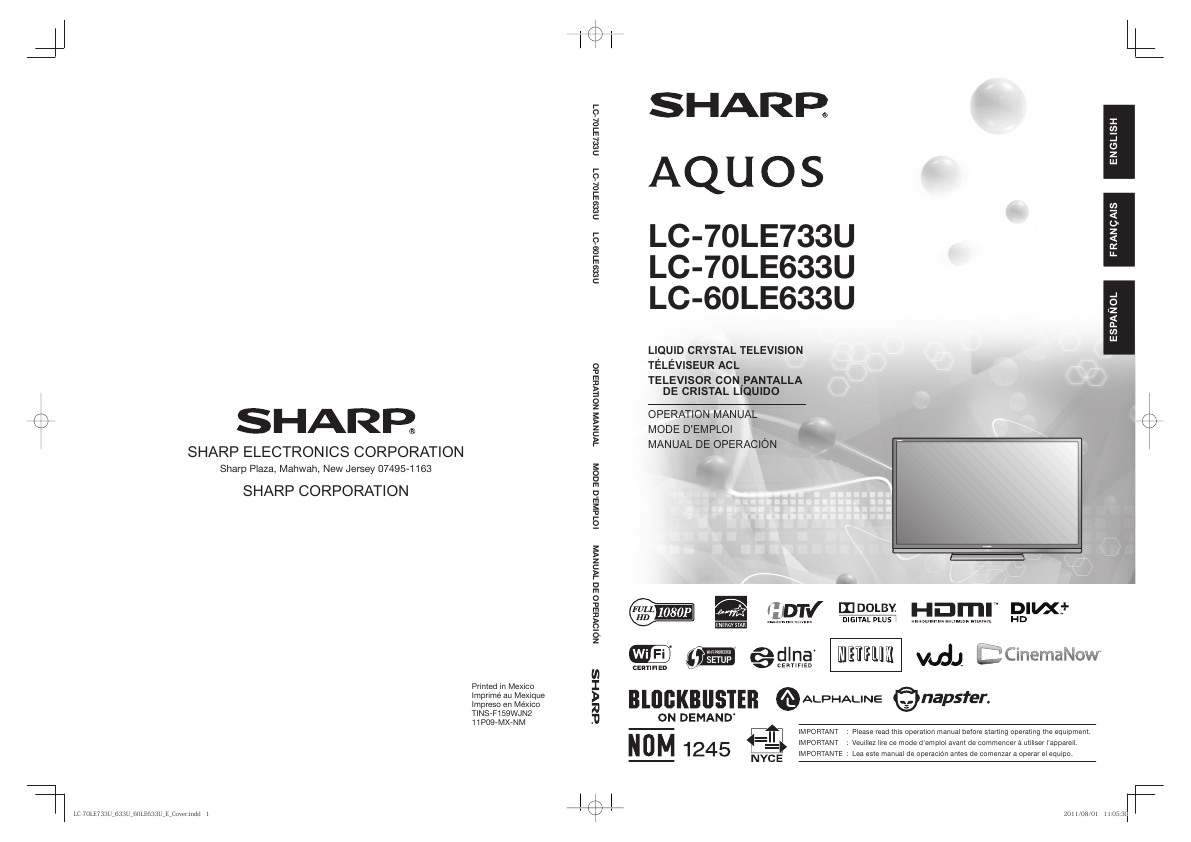 ... Array - search sharp sharp lcd hdtv user manuals manualsonline com rh  tv manualsonline com