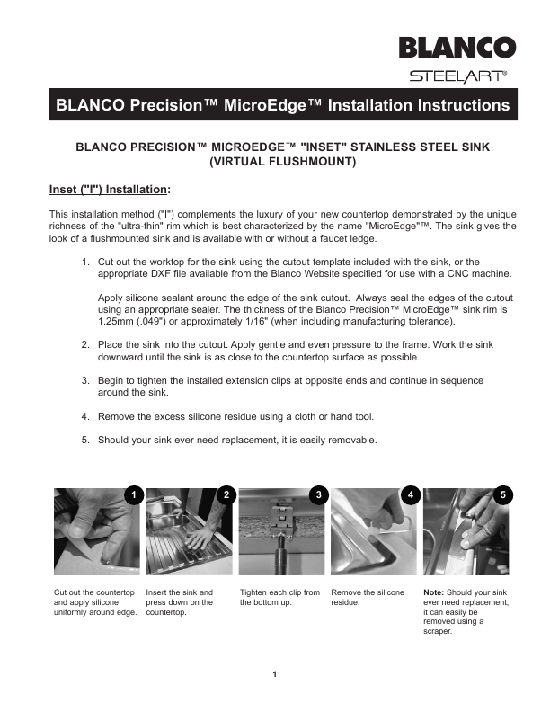 Blanco Sink Installation : Blanco Stainless Steel Sink Installation Instructions