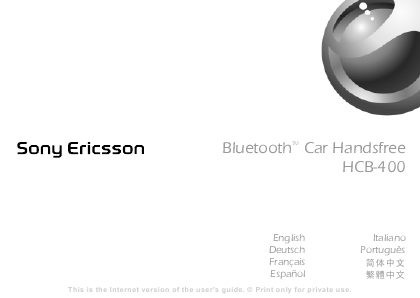 Handsfree Bluetooth Sony Ericsson. Sony Ericsson Bluetooth Car