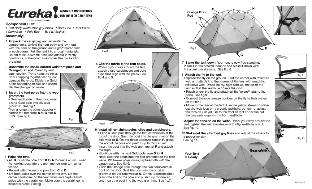 Eureka! Tents High C&  sc 1 st  ManualsOnline.com & Search eureka User Manuals | ManualsOnline.com