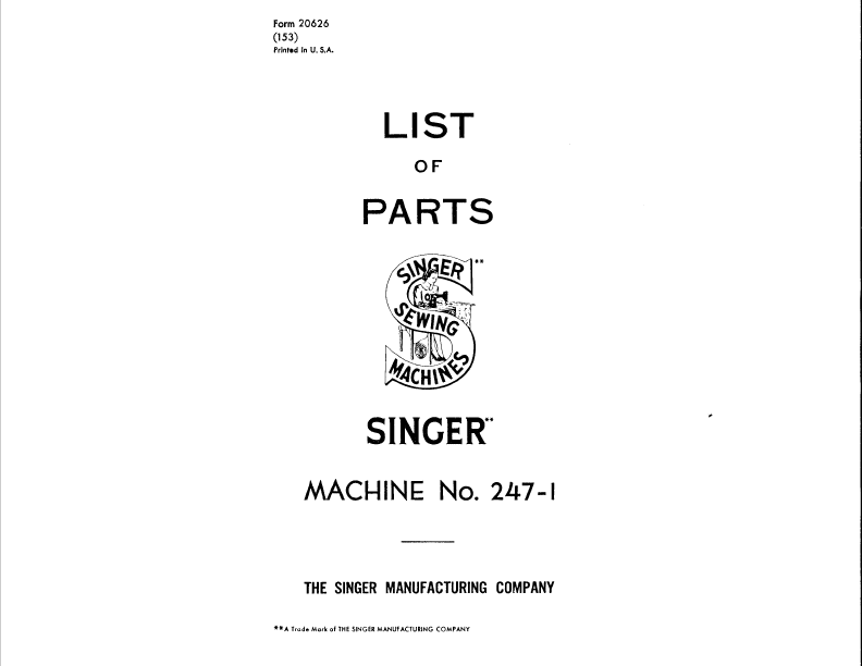 Sew4Less: Singer 257 Fashion Mate Instruction Manual