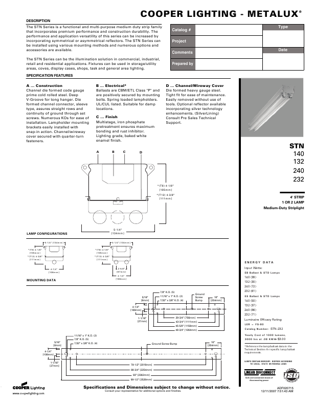 Cooper Lighting Metalux 132  sc 1 st  ManualsOnline.com & Search b... User Manuals | ManualsOnline.com