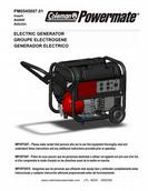 Powermate - Coleman Electric Generator Specifications
