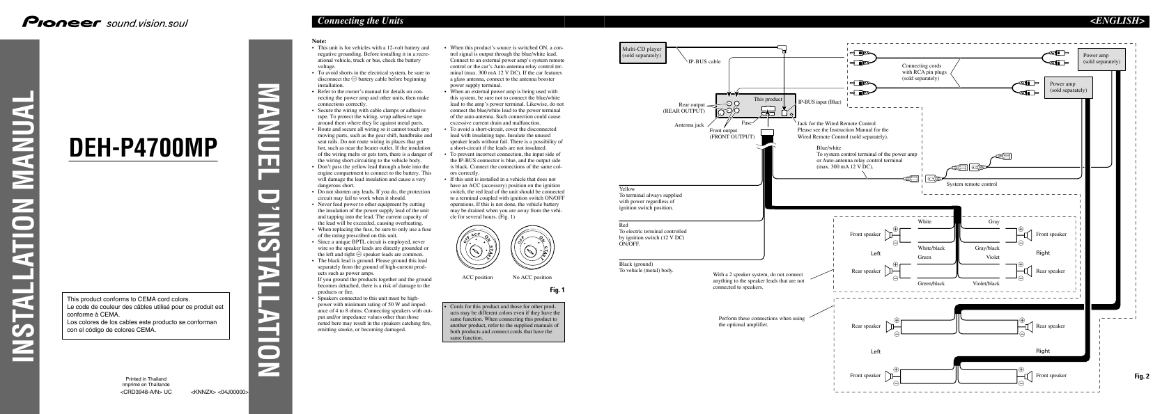 Search Stereo Amplifier User Manuals Manualsonlinecom Pioneer Deh P500ub Wiring Diagram Car System P4700mp
